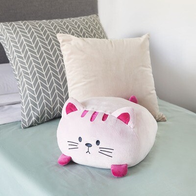 Coussin chat rose