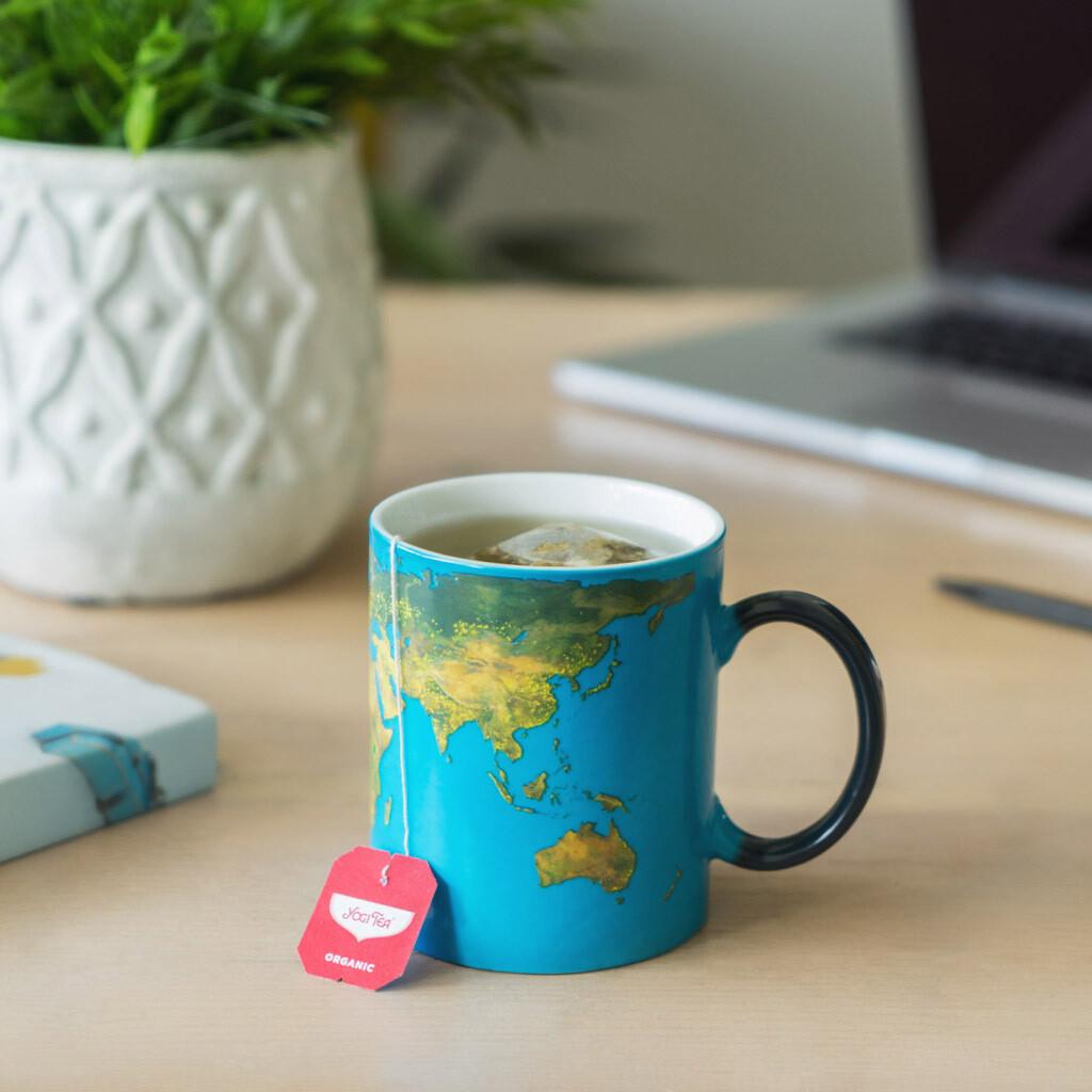 Le mug globe terrestre qui change de couleur 290ml