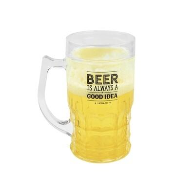 La chope a bière qui refroidi la bière
