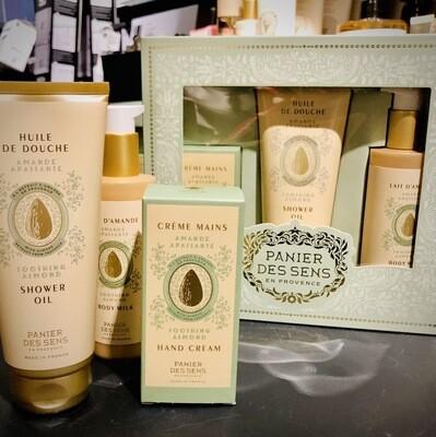 Coffret cosmétiques naturelles aux amandes