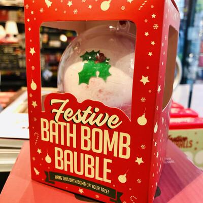 Bombe pour le bain de Noël