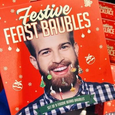Boules de Noël pour barbe ❤️