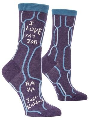 Chaussettes femmes love my job Ha Ha, Just Kidding