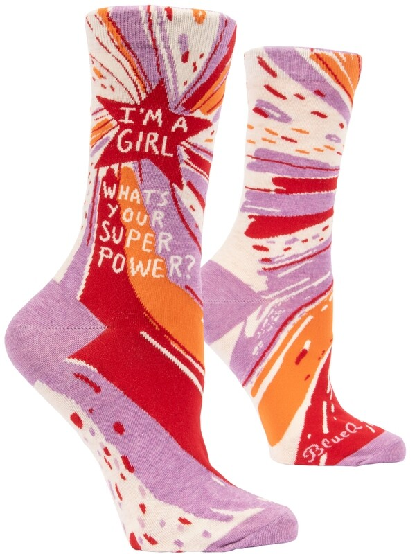 Chaussettes femme I'm a girl what's your superpower ?