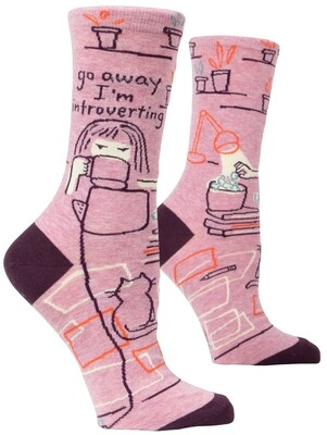 Chaussettes femme Go Away I'm Introverting
