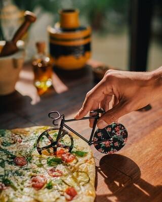 Le vélo découpe Pizza Fixie Rose & noir