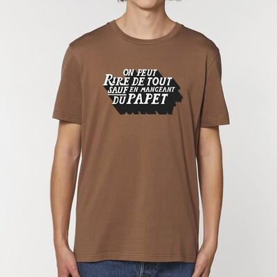 T-Shirt homme On peut rire de tout sauf en mangeant du Papet ♥️