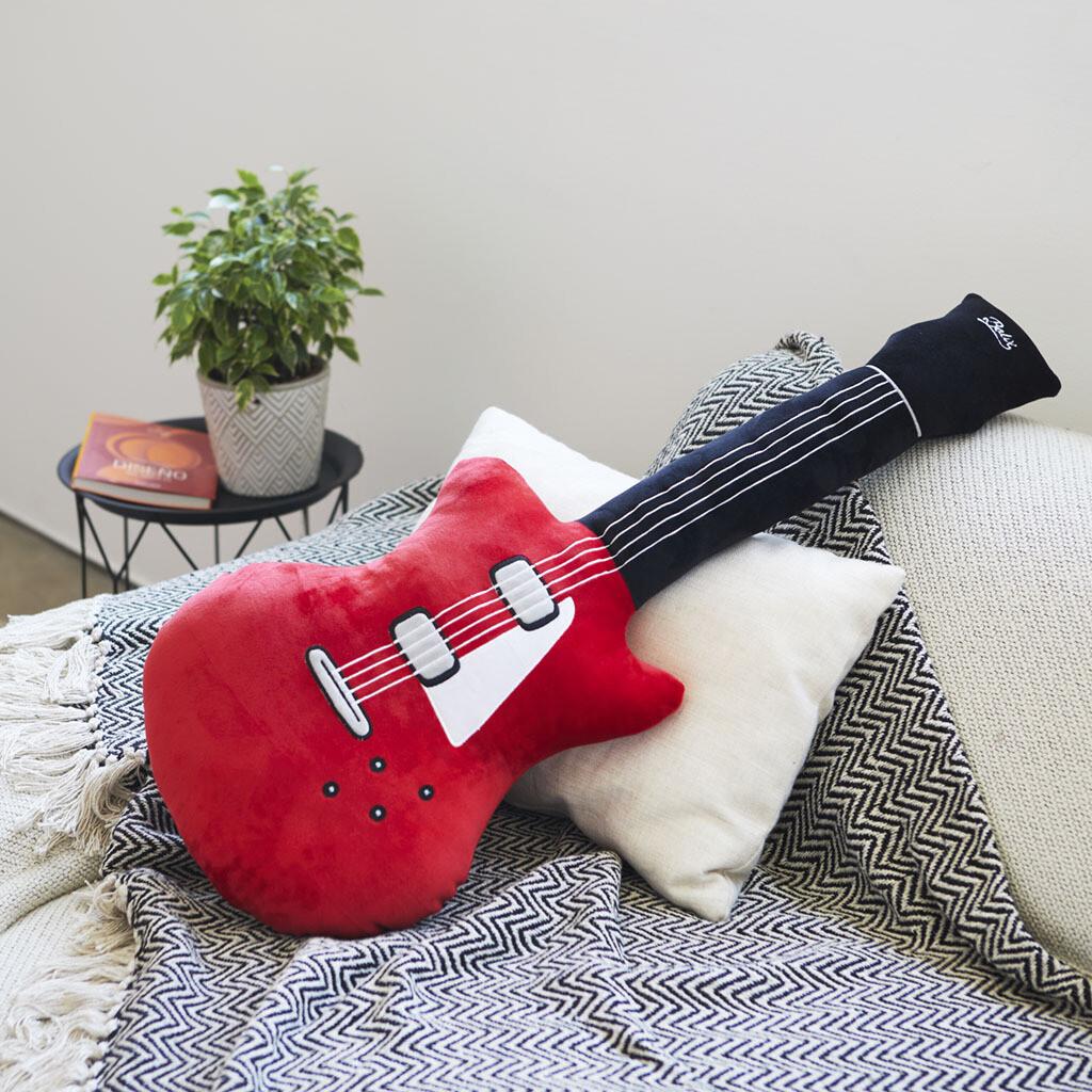 Coussin guitare - pour être le guitare héro du salon