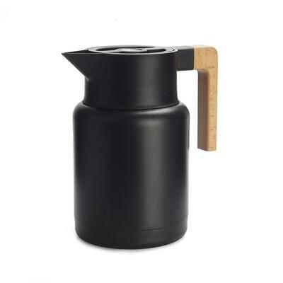 Grand thermos noir inox bois super classe