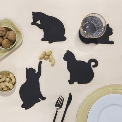 Sous-verres + Magnet chats