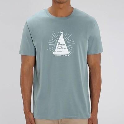 T-Shirt Homme Bouge pas l'bateau j'tiens l'lac version bateau
