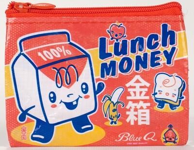 Petite pochette à monnaie zippée lunch money