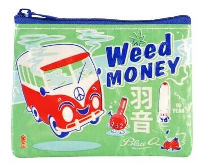 Petite pochette à monnaie zippée weed money