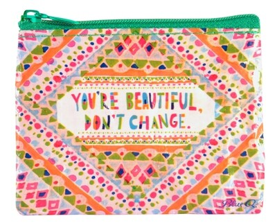 Petite pochette à monnaie zippée You're are Beautiful don't change