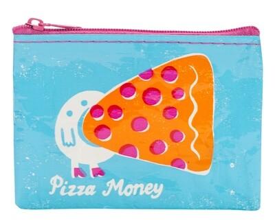 Petite pochette à monnaie zippée Pizza money
