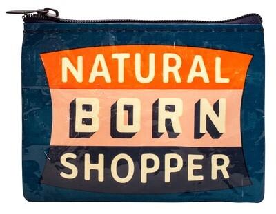 Petite pochette à monnaie zippée natural born shopper