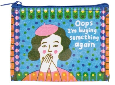 Petite pochette à monnaie Oops I'm Buying something again