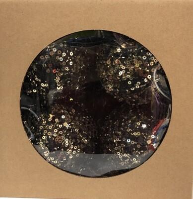 PROMO - Set 4 boules de Noël black beauty