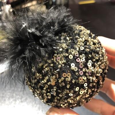 Set 4 boules de Noël black beauty