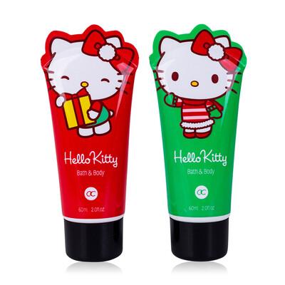 Gel douche Noël Hello Kitty vert ou rouge