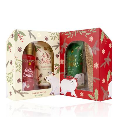 Set cadeau produits pour le bain Noël Hello Winter