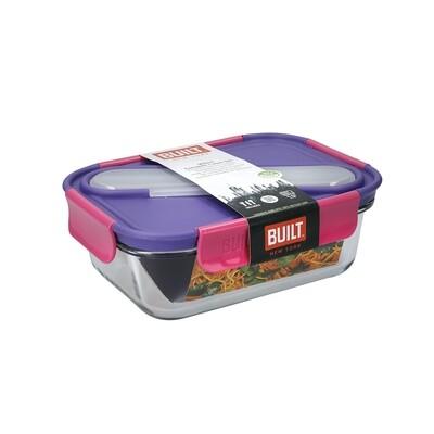Lunch-box en verre 900ml avec couverts en acier