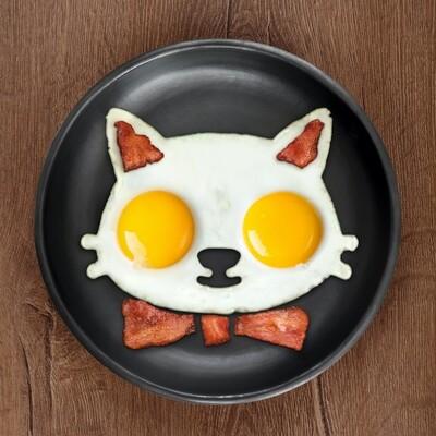 Moule à œuf chat