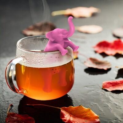 Infuseur à thé éléphant rose