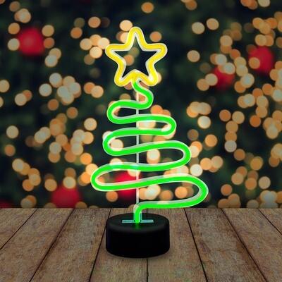 Sapin de Noël néon