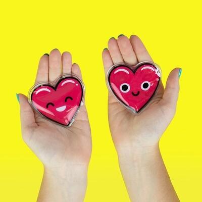 Deux chaufferettes en forme de cœur