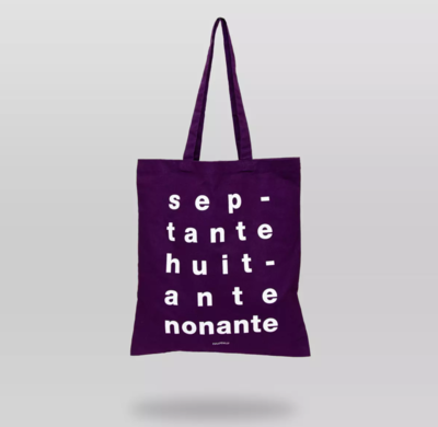 Tote bag CullyCully Septante, huitante, nonante