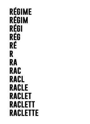 Carte de vœux & enveloppe Particules - Régime Raclette