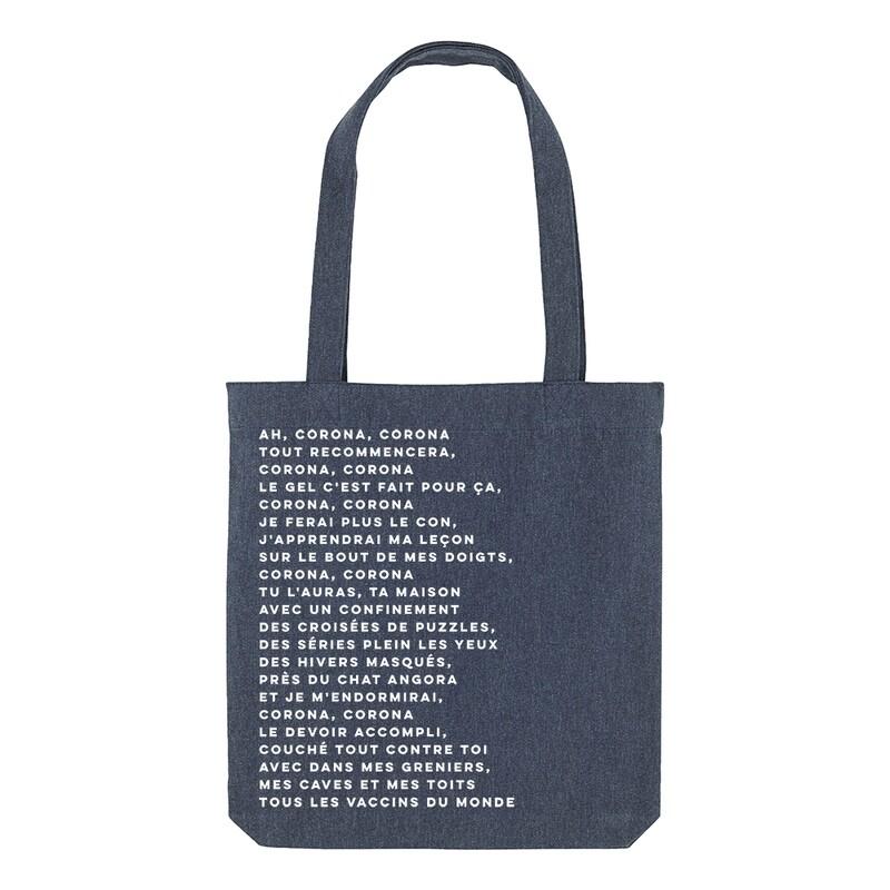 Tote bag Particules - Ah corona, corona, tout recommencera, corona, corona... 🎶