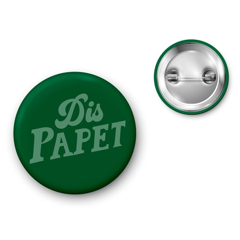 Badge Particules - Dis Papet