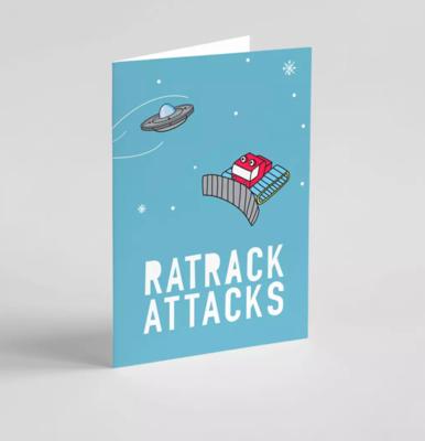 Carte de vœux double CullyCully Ratrack attacks