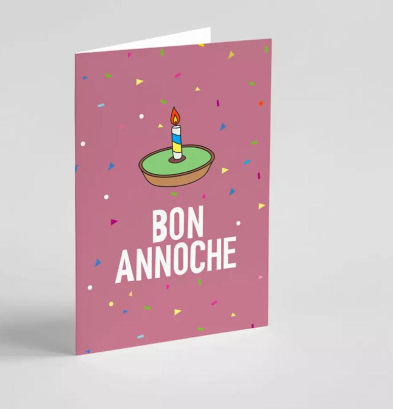 Carte de vœux double CullyCully - Bon annoche !
