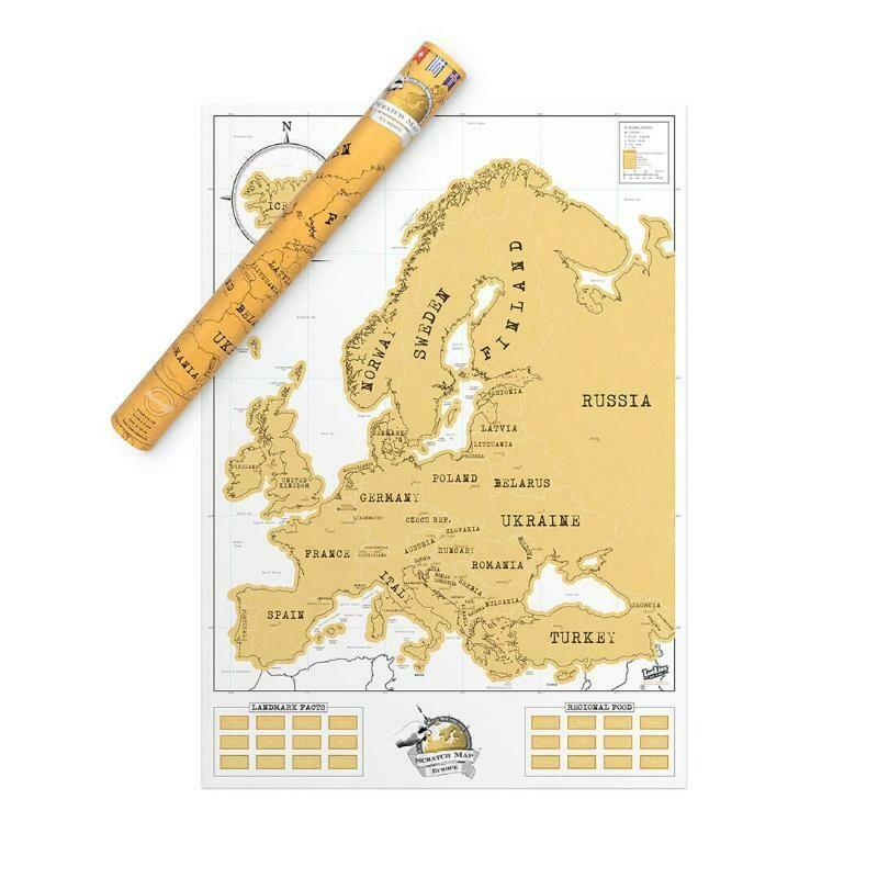 Carte murale de l'Europe à gratter ♥️