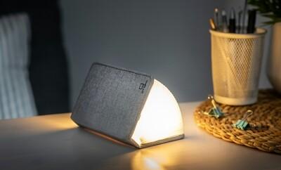 Mini Livre lumineux lin gris