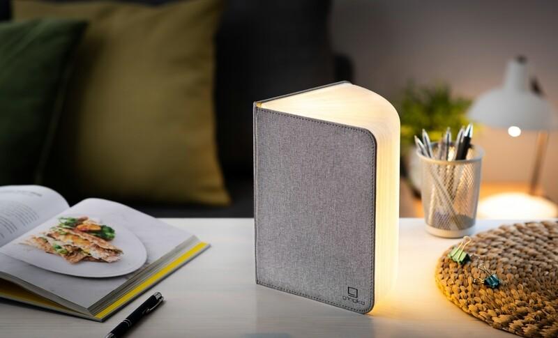 Le grand livre lumineux original lin gris