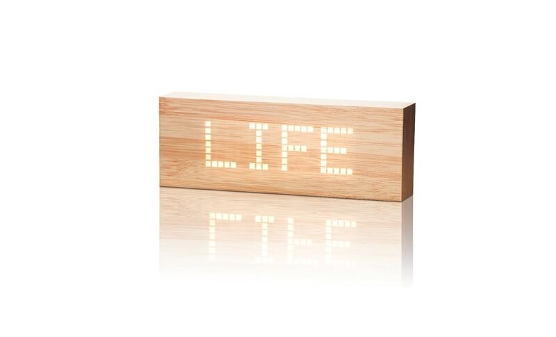 Réveil avec message personnalisé bois hêtre ♥️