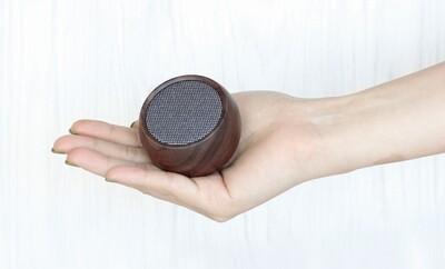 Mini Haut-Parleur Bluetooth - noyer