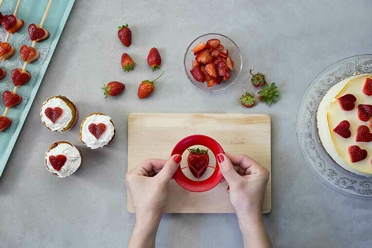 Emporte-pièce cœur pour fraises