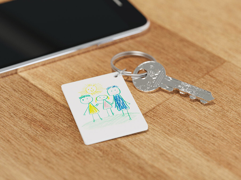 Set pour fabriquer son porte-clé avec le dessin de son enfant ♥️