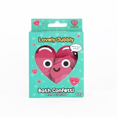 Confettis en savon pour le bain en forme de cœur
