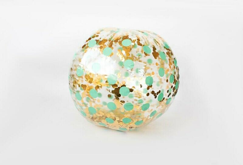 Ballon gonflable géant plein de paillettes