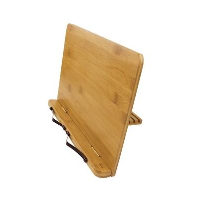 Chevalet pliable pour livres & tablette en bambou
