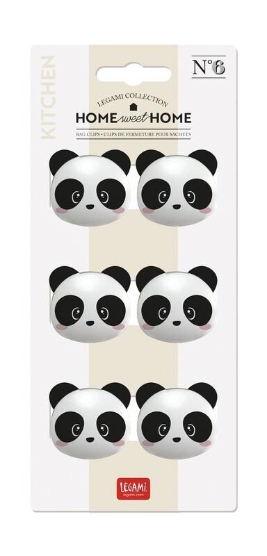 4 pinces en forme de panda pour refermer les paquets