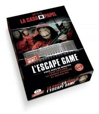 Jeu - Escape Game - La Casa de Papel - Parties 3-4