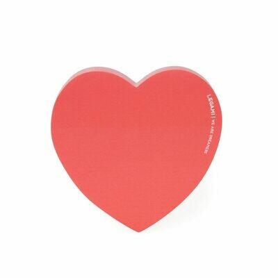 Bloc de post-it en forme de cœur