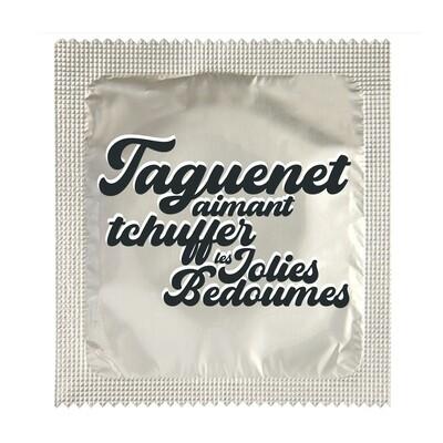 Préservatif Particules - Taguenet aimant Tchuffer les Jolies bedoumes